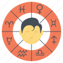 astronomy, horoscope traits, personality traits, predicting star traits, zodiac signs icon