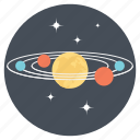 astronomy, orbiting, planets, solar system icon