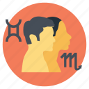 astrology, compatible couples, love horoscope, stars compatibility, zodiac couples icon