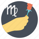 horoscope, lovely virgo, personality trait, romantic virgo, virgo zodiac sign icon