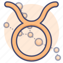 astrology, sign, taurus, zodiac icon