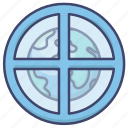 astrology, earth, planet, sign icon
