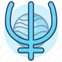 astrology, neptune, planet, sign icon