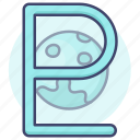 astrology, planet, pluto, sign icon
