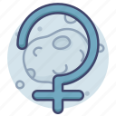 asteroid, astrology, ceres, sign icon
