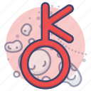 asteroid, astrology, chiron, sign icon