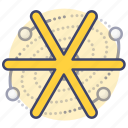 astrology, sign, star, universe icon