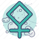 asteroid, astrology, pallas, sign icon