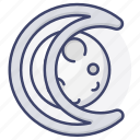 astrology, lunar, moon, sign icon