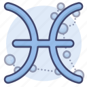 astrology, pisces, sign, zodiac icon