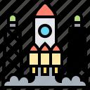 launch, rocket, shuttle, spaceship, station