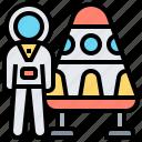 astronaut, capsule, probe, space, travel icon