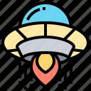aircraft, alien, extraterrestrial, spaceship, ufo icon
