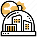 colony, dome, expedition, habitat, planet icon