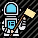 astronaut, exploration, mission, planet, spacesuit icon