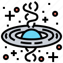 black, hole, interstellar, quasar, spacetime