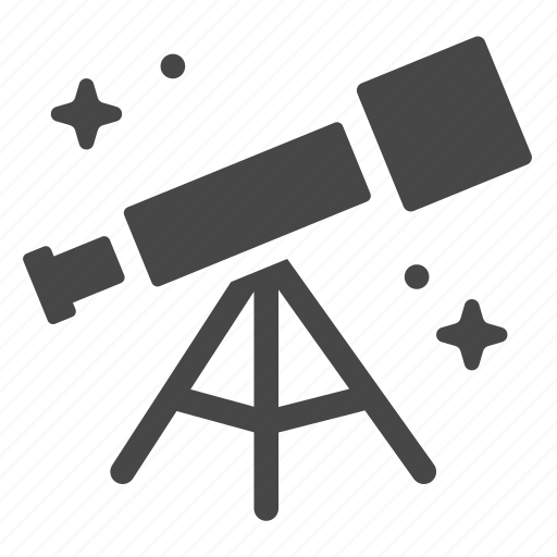 astrology, astronomy, science, space, telescope icon