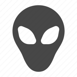 alien, astronomy, space, visitor icon
