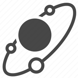 astronomy, moons, orbit, planet, planetary system, solar system, space icon