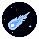 astronomy, comet, meteor, space icon