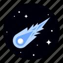 comet, astronomy, meteor, space icon