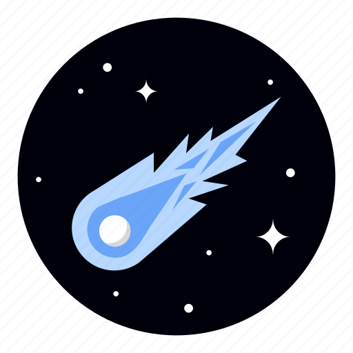 astronomy, comet, meteor, space icon