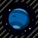 astronomy, neptune, planet, space icon
