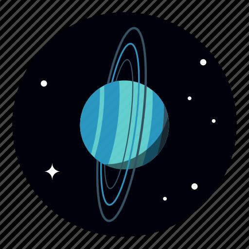 planet, space, star, universe, uranus icon