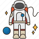astronaut, cosmonaut, explore, interstellar, spaceman