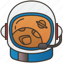 astronaut, head, helmet, protection, radiation