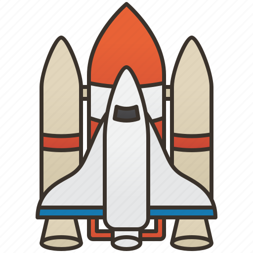 rocket, shuttle, space, spacecraft, transportation icon