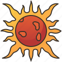 daytime, heat, solar, star, sun icon