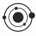 circle, model, planet, satellite, space icon