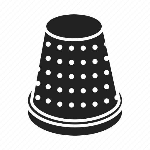 atelier, equipment, metal, sewing, tailoring, thimble, tool icon