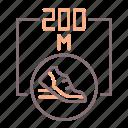 200m, athletics, sports, sprint icon