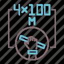 athletics, relay, running icon