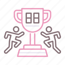 competitions, ranking, score icon