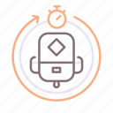 athletics, fastpacking, timer icon