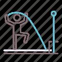 athletics, pole, vault icon