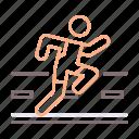 athletics, road, running icon