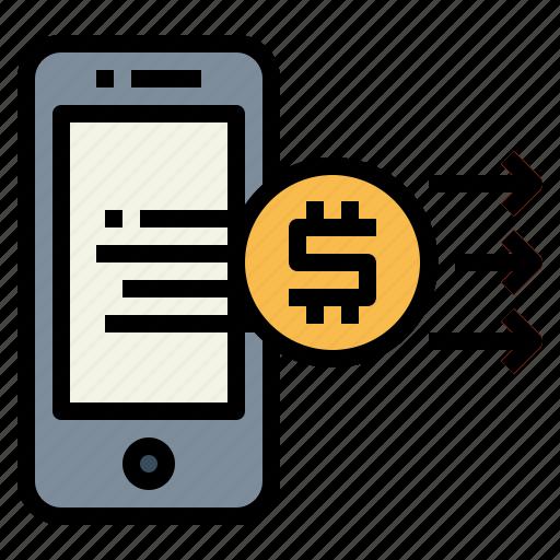 Banking, money, online, smartphone, transfer icon - Download on Iconfinder