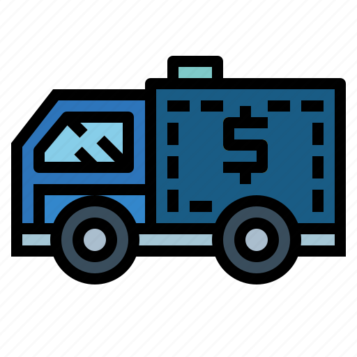 bank, delivery, truck, vehicle icon