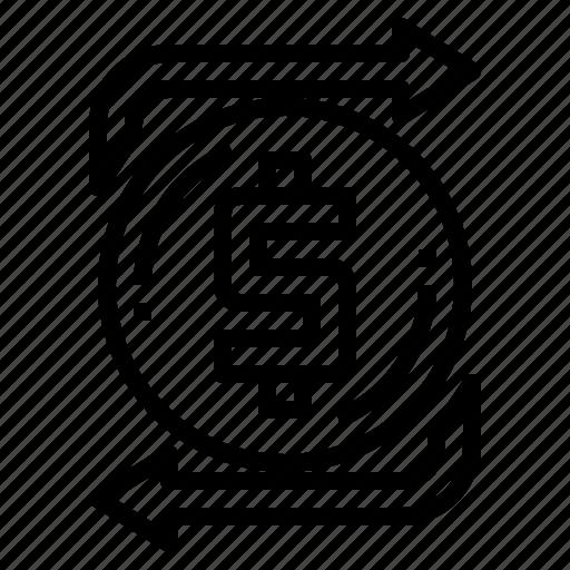 arrows, changing, exchange, shuffle icon