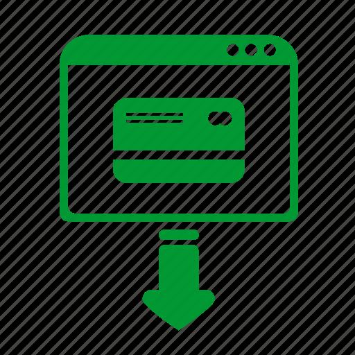api, application, bank, card, enter, system icon