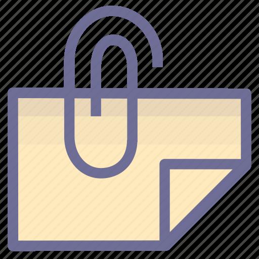 attachment, binder, document icon