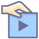 attachment, video, video attachment icon