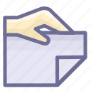 attachment, bidding, document icon
