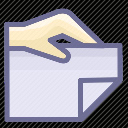 attachment, bidding, document icon