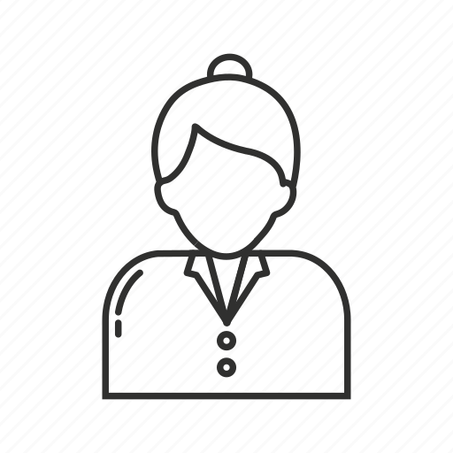 boss, business woman, businesswoman, woman, woman bun, woman hair bun, working woman icon