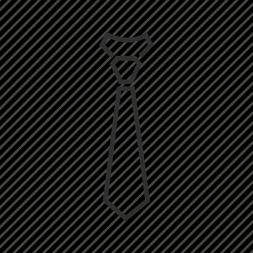 business tie, fat tie, normal tie, plain tie, regular tie, tie, work tie icon